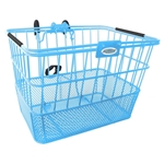 Quik-Release Bicycle Basket - Baby Blue | CLEAN MOTION
