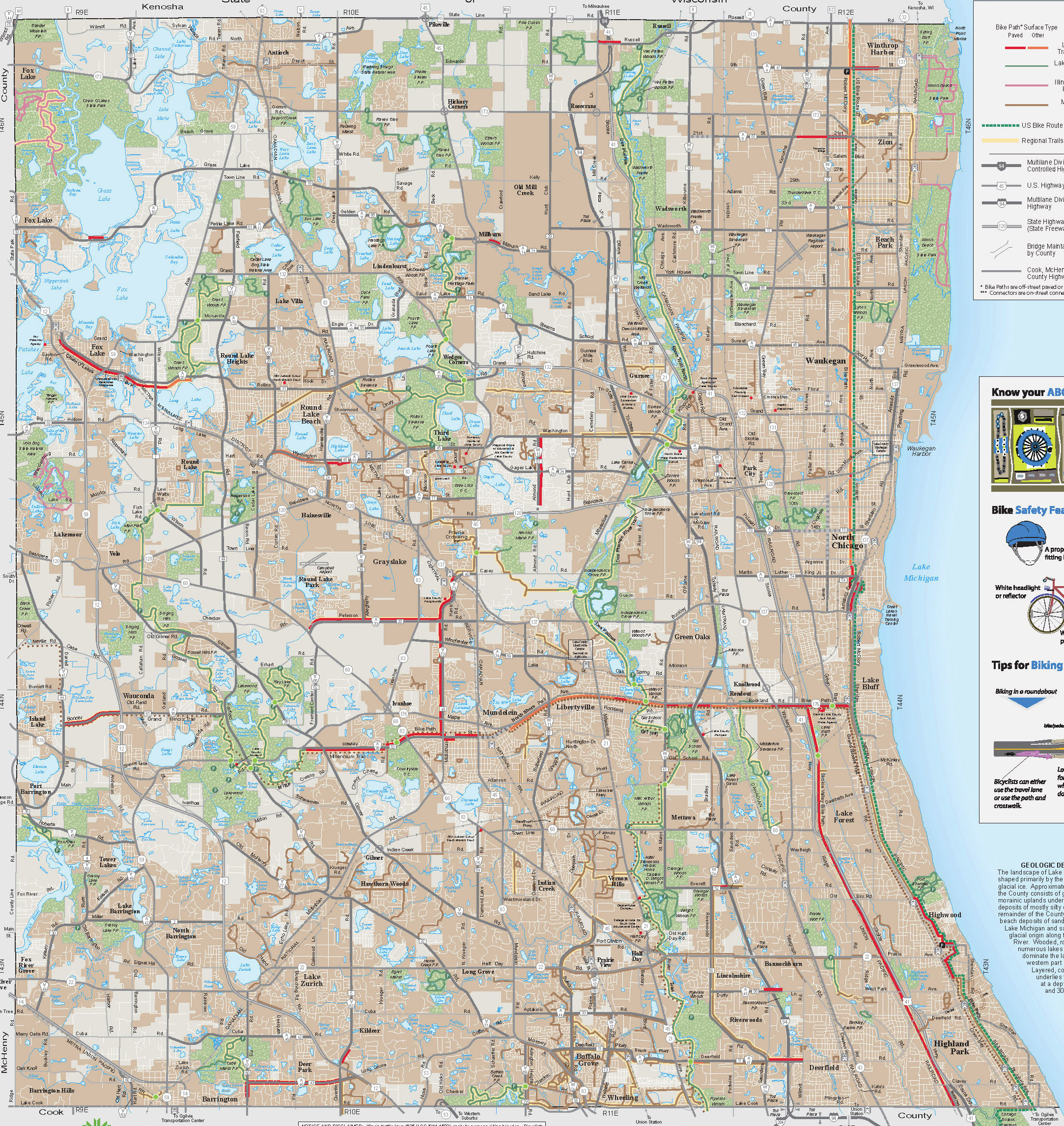 Lake County Bike Trails Map